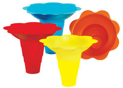 Paragon 12 oz. Sno Cone Flower Drip Trays - 100 cs.