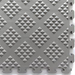 Norsk-Stor Raised Diamond Pattern PVC Tiles (13.95 sq.ft/pkg)