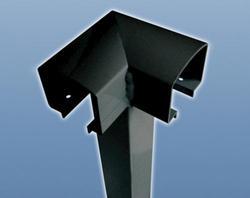 RailBlazers Aluminum Railing System Corner Post, Black