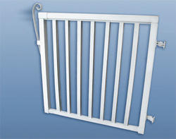 "42""H x 46""W Wide Picket Gate, White"