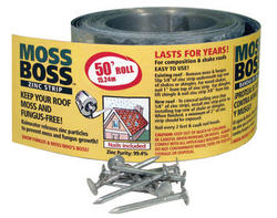 Moss Zinc Strip.  50' roll.