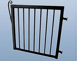 "42""H x 46""W Wide Picket Gate, Black"
