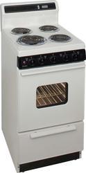 "Premier 20"" Electric Coil Freestanding 2.4 cu. ft. Range with 8"" Porcelain Backguard"