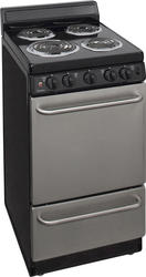 "Premier 20"" Electric Coil Freestanding 2.4 cu. ft. Range with 4"" Backguard"