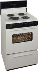 """Premier 24"""" Electric Coil Freestanding 3 cu. ft. Range with 10"""" Tempered Glass Backguard"""