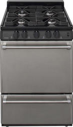 "Premier Pro-Series 24"" Black Gas Commercial Style 3 cu. ft. Sealed Top Burner Range"