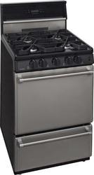 """Premier Pro-Series 24"""" Black Gas Commercial Style 3 cu. ft. 24"""" Sealed Burner Range"""
