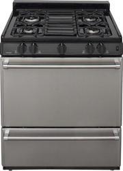 "Premier Pro-Series 30"" Black Gas Commercial Style Sealed Top Burner Range"