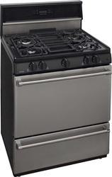 """Premier Pro-Series 30"""" Black Gas Commercial Style 3.9 cu. ft. Sealed Burner Range"""