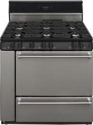 """Premier Pro-Series 36"""" Black Gas Commercial Style 3.9 cu. ft. Sealed Burner Range"""