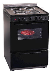 "Premier 24"" Electric Coil Freestanding 3 cu. ft. Range with 1-1/2"" Rail Cap"