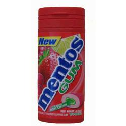 Mentos Red Fruit and Lime Gum - 15 pc.