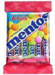 Mentos Assorted Fruit Rolls - 6 pk.