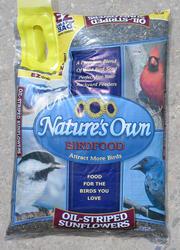 Nature's Own Oil-Striped Sunflower Seeds Wild Bird Food - 7 lb