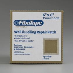 """FibaTape 6"""" x 6"""" Perforated Aluminum Wall Repair Patch - 5 pk."""