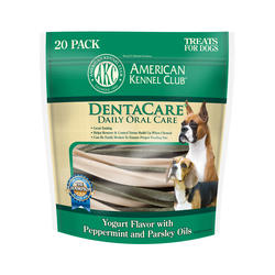 AKC™ DentaCare® Yogurt with Peppermint and Parsley Oils Oral Care Dog Treats - 20 pk.