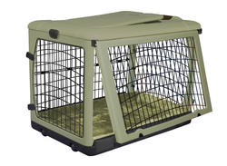 """Pet Gear The Other Door 36"""" Sage Steel Crate with Plush Pad"""