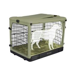 """Pet Gear The Other Door 42"""" Steel Crate with Plush Pad"""
