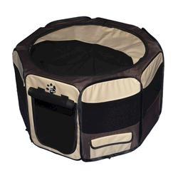 Pet Gear Small Tan Octagon Pet Pen with Removable Top