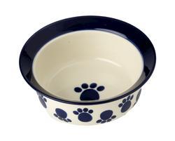 """Petrageous® 9"""" Paws n' Around Stoneware Dog Bowl"""