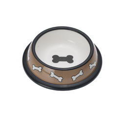 "Petrageous® 6.25"" Scattered Bones Plastic Dog Bowl"