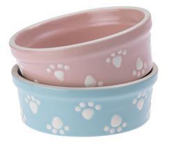 """Petrageous® 4.75"""" Pastel Ice Stoneware Dog Bowl"""