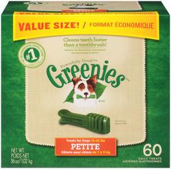 Greenies® Petite Dental Dog Chews - 60-ct