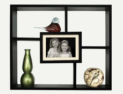 Black Windowpane Shadowbox
