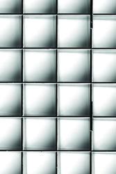"PLASKOLITE 23.75"" X 47.75"" Silver Egg Crate Louver Light Panel"