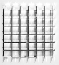 "PLASKOLITE 23.75"" X 47.75"" Silver Parabolic Louver Light Panel"