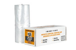 Polar Plastics 1-Mil Clear Poly All-Purpose Plastic Sheeting - 9' x 250' Roll
