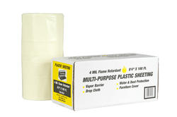 "Polar Plastics 4-Mil White Flame-Retardant Plastic Sheeting - 8' 4"" x 100' Roll"