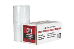 Polar Plastics 4-Mil Clear Poly All-Purpose Plastic Sheeting - 10' x 100' Roll