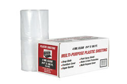 "Polar Plastics 4-Mil Clear Poly All-Purpose Plastic Sheeting - 8' 4"" x 100' Roll"