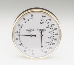 """7"""" round thermometer-hygrometer"""