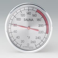 "4"" round chrome thermometer"
