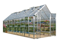 Snap & Grow 8' x 20' Hobby Greenhouse - Silver