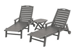 POLYWOOD Nautical 3-Piece Chaise Set