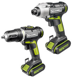 Rockwell® 16-Volt Max Lithium-Ion Drill and Impact Driver Combo Kit