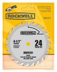 Rockwell® 4-1/2 in. 24-Tooth Carbide-Tipped Circular Saw Blade