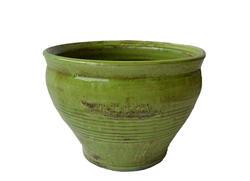 """14"""" Kiwi Ceramic Aged Pot"""