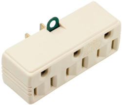 Legrand Brown Plug-In Adapter (1 to 3 Outlets)