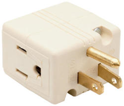 Legrand Ivory Cube Tap Adapter 1 to 3 Outlets