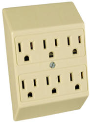 Legrand Ivory Plug-In Adapter (2 to 6 Outlets)