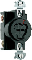 Legrand Turnlok® Black 20/10A 125 volts/250dc 480-Volt Power-Interrupting Outlet