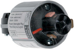 Legrand Turnlok® Black 20/10A 125 volts/250dc 480-Volt Power Interrupting Plug