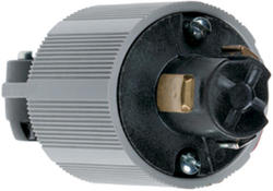 Legrand Turnlok® Black 20-Amp 125-Volt HG Power-Interrupting Plug