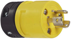Legrand Turnlok® Yellow 15-Amp 125-Volt Locking Rubber Plug