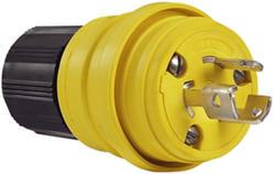 Legrand Turnlok® Yellow 15-Amp 125-Volt Locking Watertight Plug