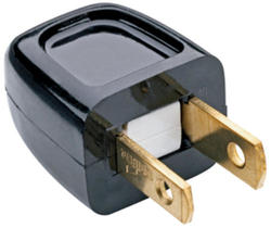 Legrand Black 10-Amp 125-Volt Plug